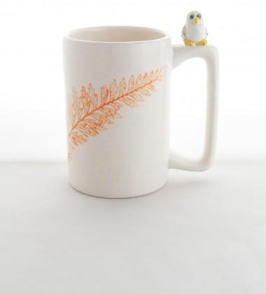 Mug chouette en céramique.