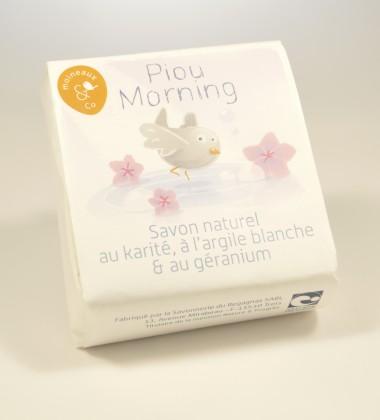 savon naturel bio nature et progrès karité argile blanche géranium piou morning moineauxandco quimper