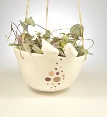 suspension plantes cosmique oiseaux moineauxandco faïence quimper