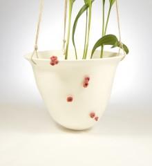 suspension plantes fleurs rouges cerisier japonais moineauxandco faïence quimper