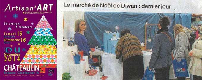 Clic photo à Châteaulin pour le marché de Noël de Diwan