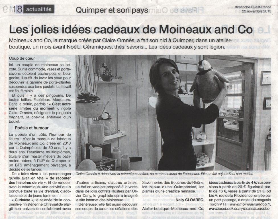 Article M&Co - Ouest France 2015-11-22