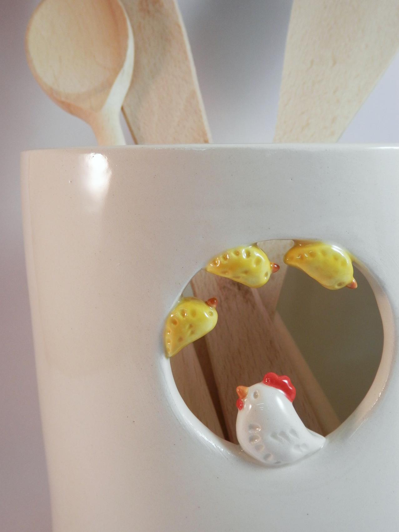 Decoration cuisine ceramique for Decoration poule pour cuisine