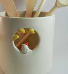 deco cuisine_pot à ustensiles_couverts_ceramique_poule et poussins_moineauxandco (7)