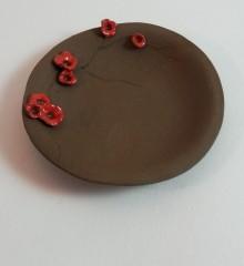 deco japonisante_repose sachet de thé_coquelicots_fleurs de cerisier_ceramique_moineauxandco (1)