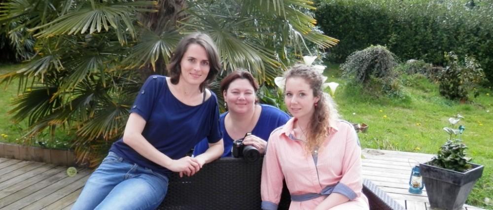 Claire de Moineaux & Co, Audrey de La Pointe du Vent et Pauline notre modèle photo.