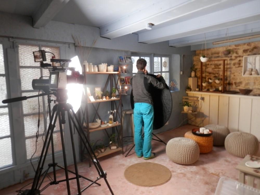tournage video presentation moineaux and co atelier boutique createurs quimper fabrication ceramique idées cadeaux