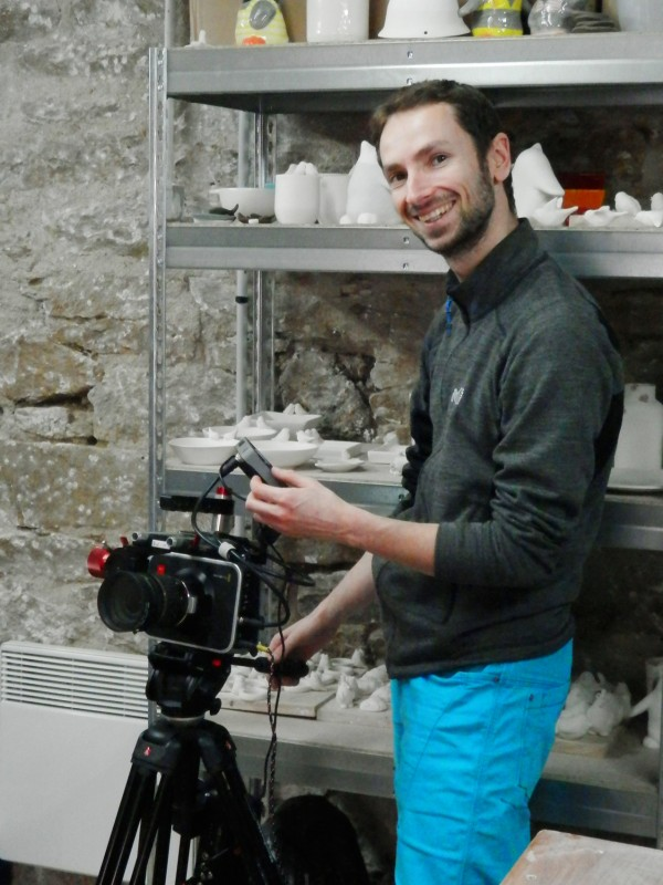 Tournage vidéo Moineaux and Co - Atelier Boutique Createur Quimper - Faïence - Ceramique (1)