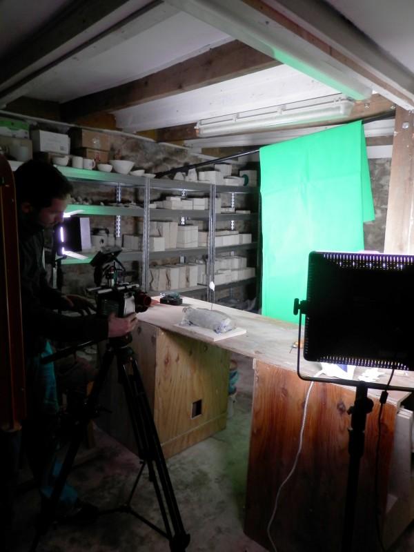 Tournage vidéo Moineaux and Co - Atelier Boutique Createur Quimper - Faïence - Ceramique (5)