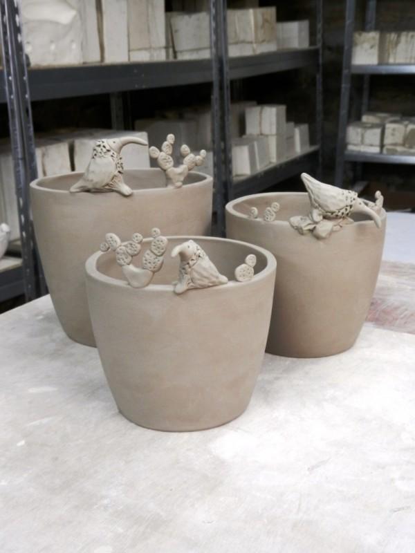 Fabrication de cache-pots.