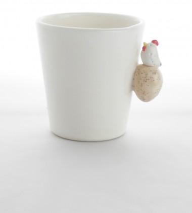 Tasse poule sur son oeuf - Poterie artisanale Quimper