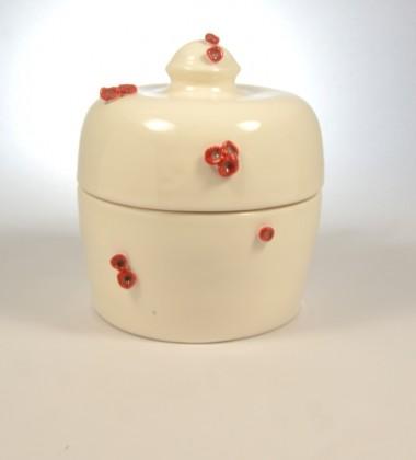 boîte fleurs cerisier japonais rouges faïence madein quimper france moineauxandco céramiste