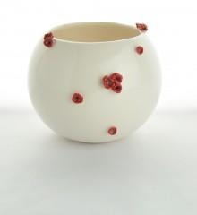 vase boule fleurs cerisier sakura japonisant faïence émaillée ateliers d'art de france moineaux & co quimper