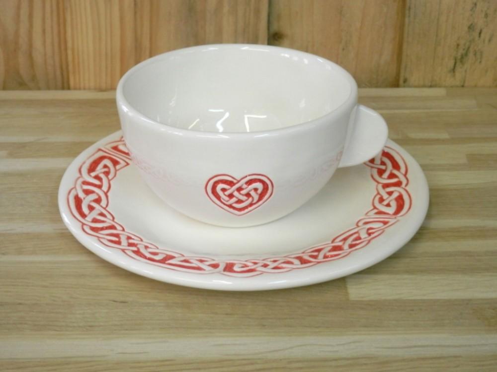 tasse et assiette personnalisée