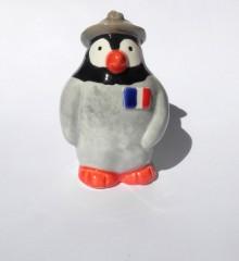 Collection Histoire - Figurine pingouin - Le Poilu - Soldat français première guerre mondiale 1914-1918.