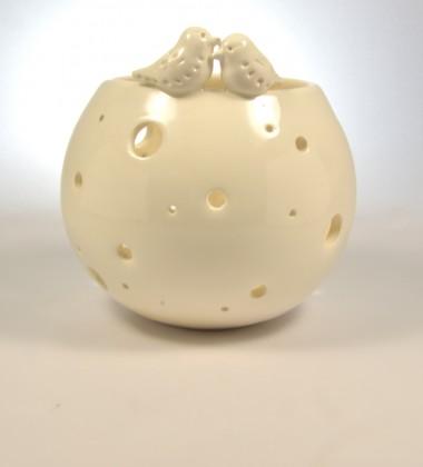 photophore moineaux céramique bougie chauffe-plat