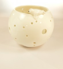 photophore phoque banquise poterie céramique faïence