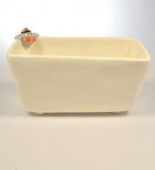 porte-éponge pingouin trous pieds écoulement eau poterie artisanale céramique moineaux & co