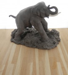 sculpture mammouth atelier poterie