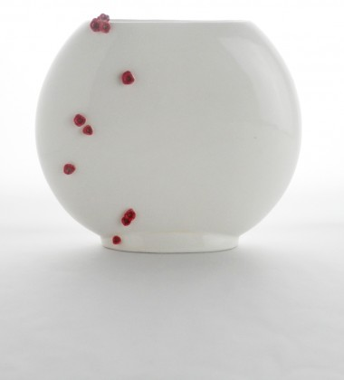 vase plat fleurs de cerisier japonais