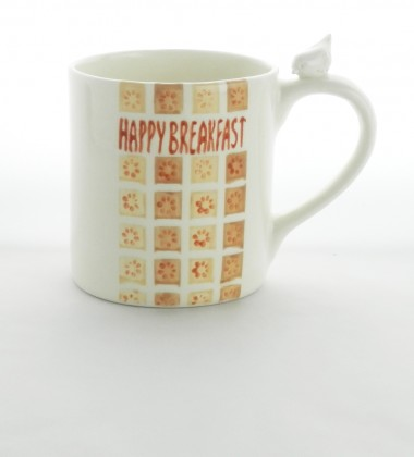 "Mug moineau ""Happy Breakfast"""