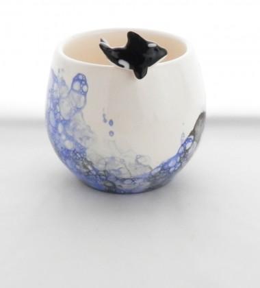 Petit pot orque et bulles de savon