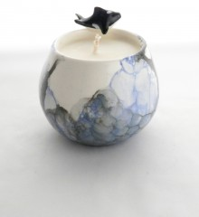 Bougie orque et bulles de savon en céramique.