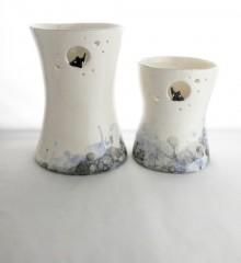 Grand vase bulles de savons en céramique.
