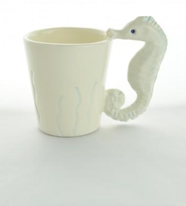 Tasse hippocampe - Céramique artisanale Moineaux & Co à Quimper
