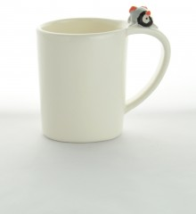 tasse pingouin 3D relief moineaux & co anse originale