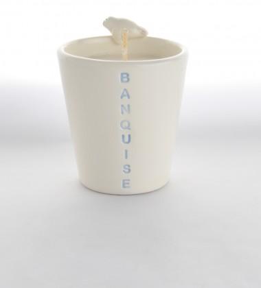 bougie phoque 3d céramique cire végétale soja moineaux & co