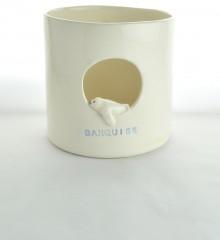pot à ustensiles phoque banquise céramique moineaux & co quimper bretagne made in france