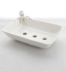 Porte-savon poulpe en céramique