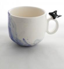 Tasse orque et bulles de savon en céramique.